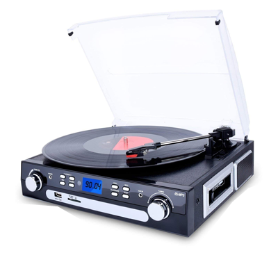 Record Player with Stereo Speakers