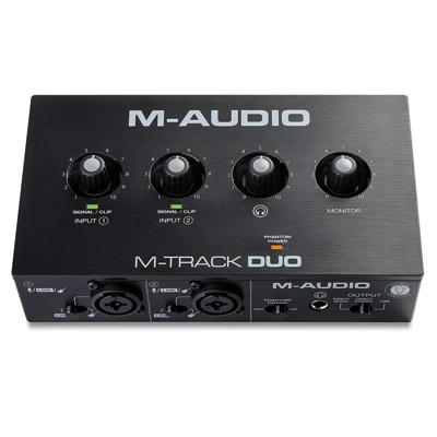 M-Audio M-Track Duo – USB Audio Interface for Recording
